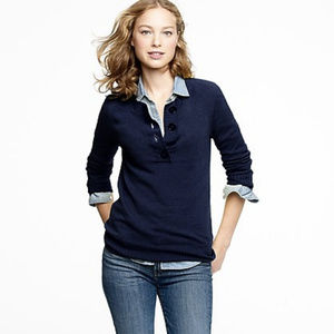 Cashmere on-the-button henley in cream